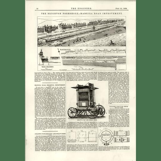 1889 Brighton Madeira Road Improvement Collitt Hay Straw Press