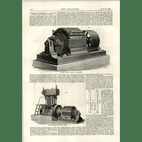 1889 Six Pole Thury Dynamo And Sulzer Engine Brennan Torpedo Trial