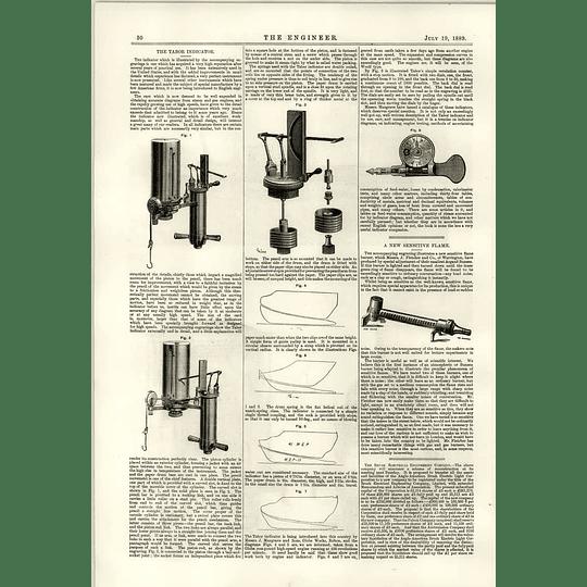 1889 The Tabor Indicator Fletcher Warrington Argand Bunsen