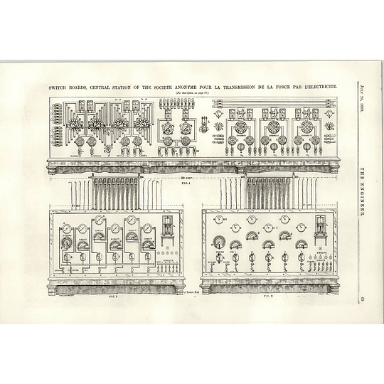 1889 Switchboards Central Station Societe AnonymeForce Electricite
