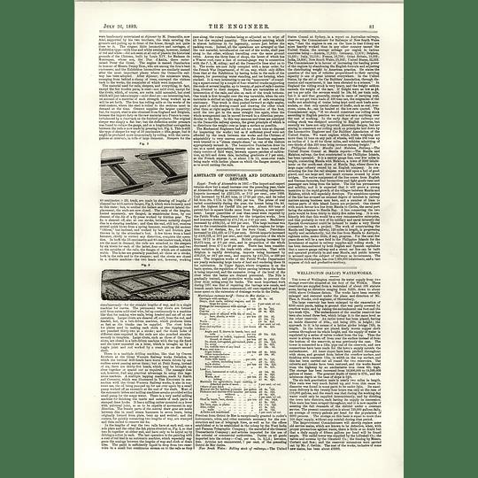 1889 Decauville Light Rail 2 Wellington Salop Water Steel Steamer Puritan