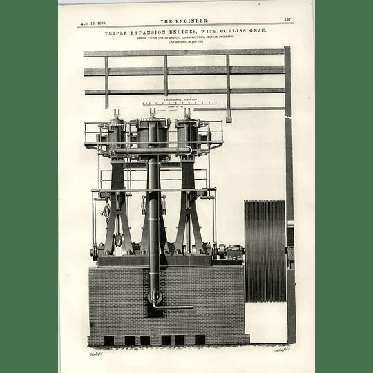 1889 Lagan Foundry Belfast Triple Expansion Engines Tower Bridge Tramcar Starter