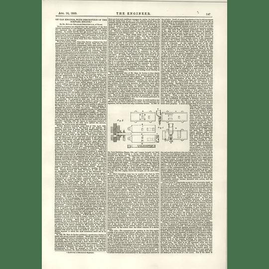 1889 Gas Engines Description Of The Simplex Engine Delamare Deboutteville