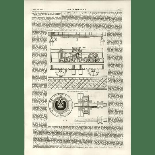 1889 10 Ton Travelling Crane Echeverria Bazan Clutch Mechanism 1
