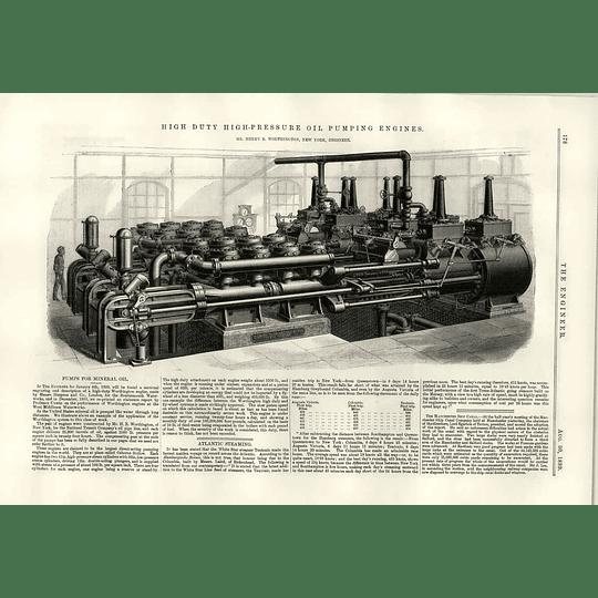 1889 Pumps For Mineral Oil Henry Worthington New York