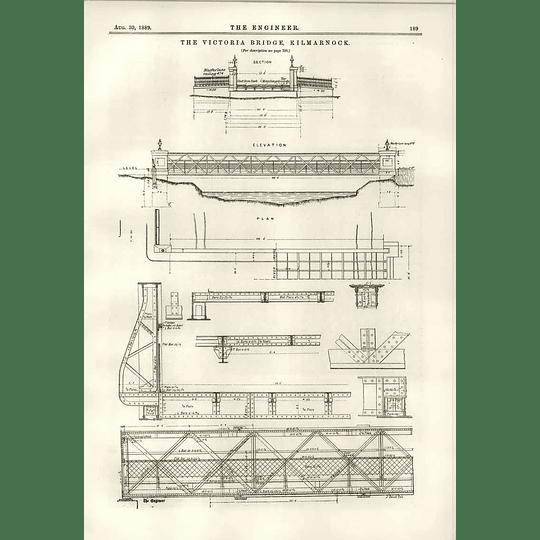 1889 Victoria Bridge At Kilmarnock Elevation Plan Diagrams