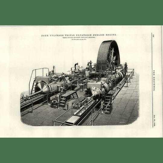1889 Douglas Grant Kirkcaldy Four Cylinder Triple Expansion Corliss Engine