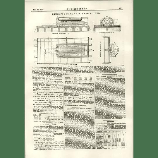 1889 Kingsford's Coke Making Boiler Aden Barracks Roof Plan