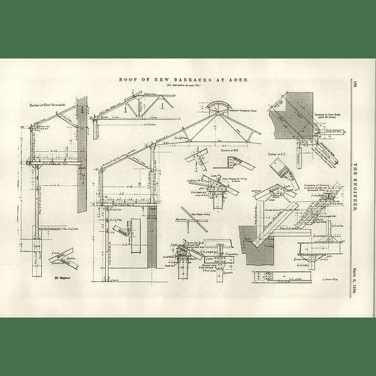 1889 New Barracks Roof At Aden Organisation Of Labour In Docks