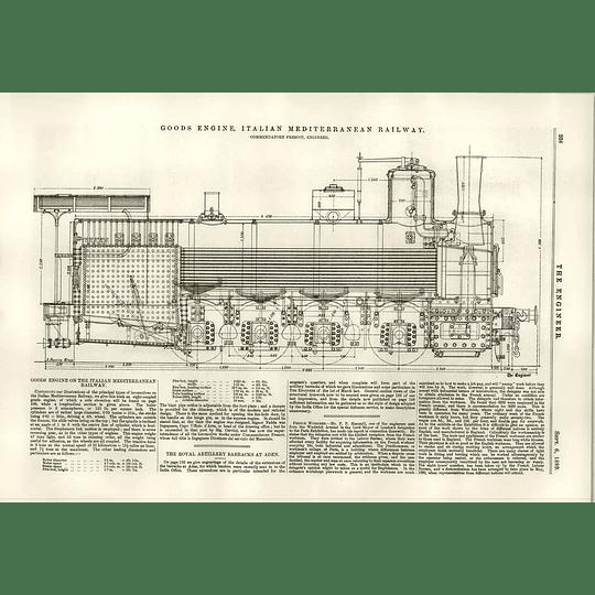 1889 Goods Engine Italian Mediterranean Railway