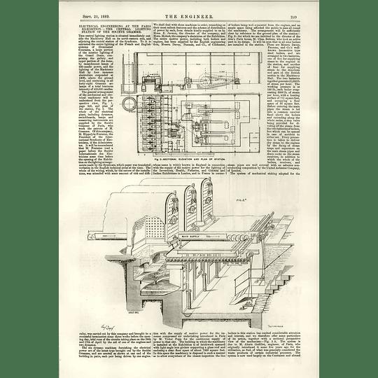 1889 Central Lighting Station Societe Gramme Popp Alexis Godillot 1