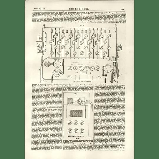 1889 Central Lighting Station Societe Gramme Popp Alexis Godillot 2