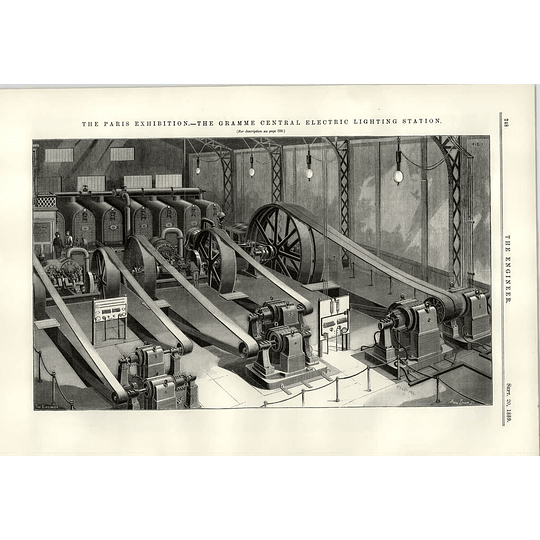 1889 The Gramme Central Electric Lighting Station