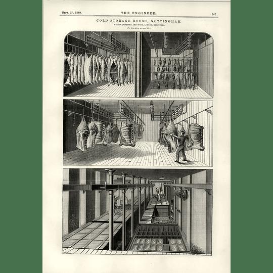 1889 Cold Storage Rooms Nottingham Pontifex Wood Horizontal Air Pumps
