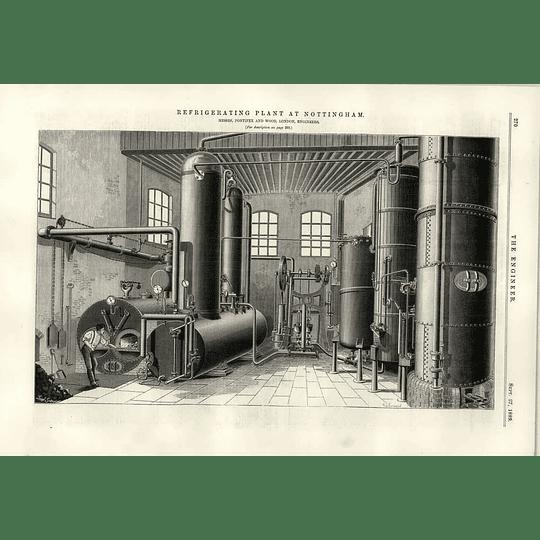 1889 Refrigeration Plant Nottingham Pontifex Wood