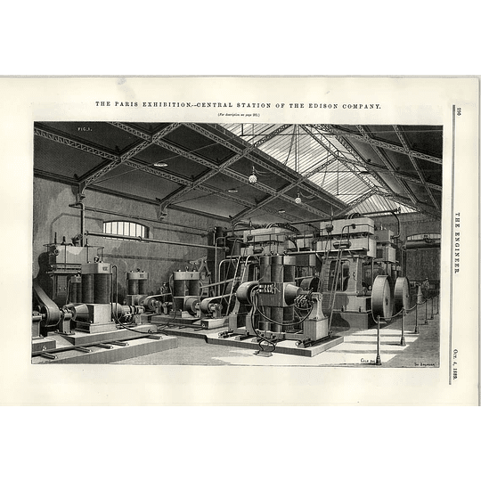 1889 Central Station Of The Edison Company At The Paris Exhibition