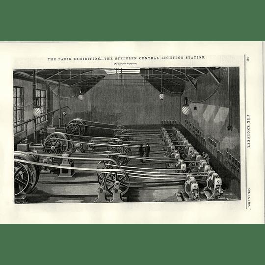 1889 The Steinlen Central Lighting Station Exhibition Cardium John Gamgee