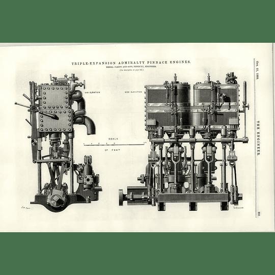1889 Plenty Sons Newbury Triple Expansion Admiralty Pinnace Engine