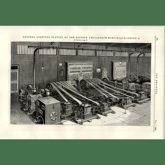 1889 Societe L'eclairage Electrique Lighting Station Group A
