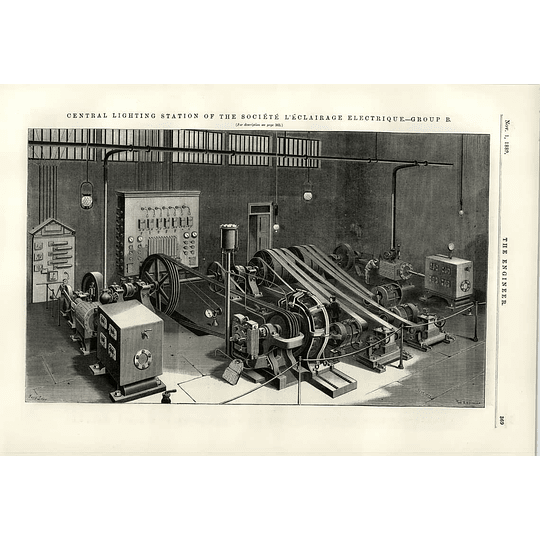 1889 Societe L'eclairage Electrique Lighting Station Group B