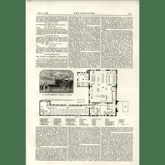 1889 Walker Engineering Laboratory Liverpool Tower Bridge Steelwork Details
