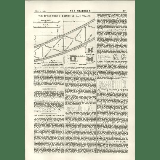 1889 Tower Bridge Details Of Main Chains