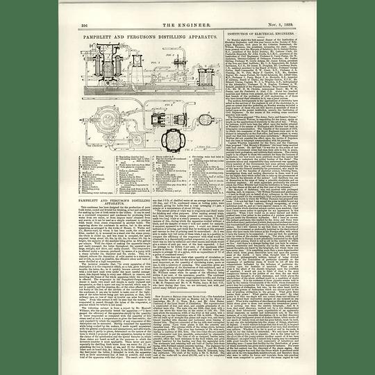 1889 Pamphlett And Ferguson Distilling Apparatus