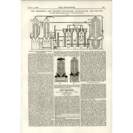 1889 Berryman And Wright Condenser Evaporator And Heater