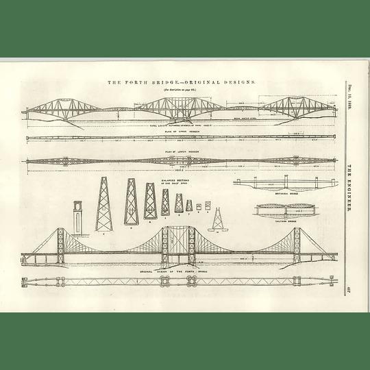1889 Forth Bridge Original Designs Upper Lower Members Spans