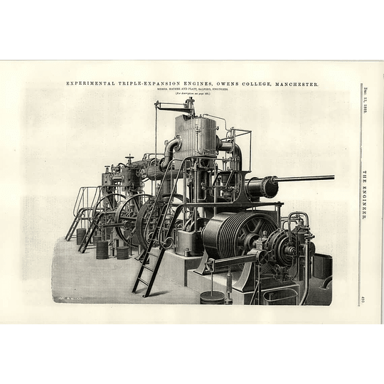 1889 Owens College Manchester Experimental Triple Expansion Engine