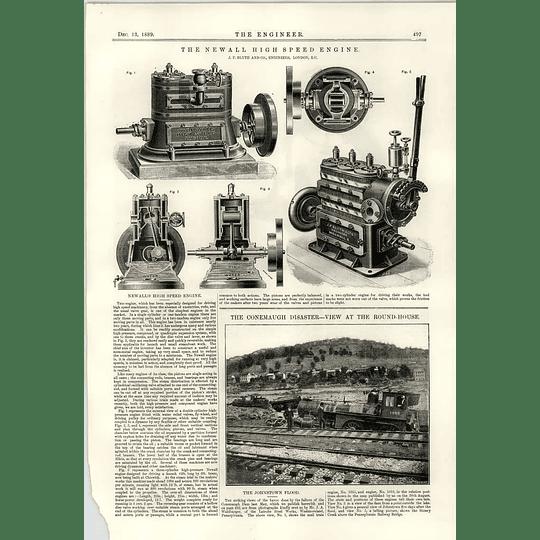 1889 Newall High-speed Engine Jf Blyth Handsaw Machine Sager Halifax