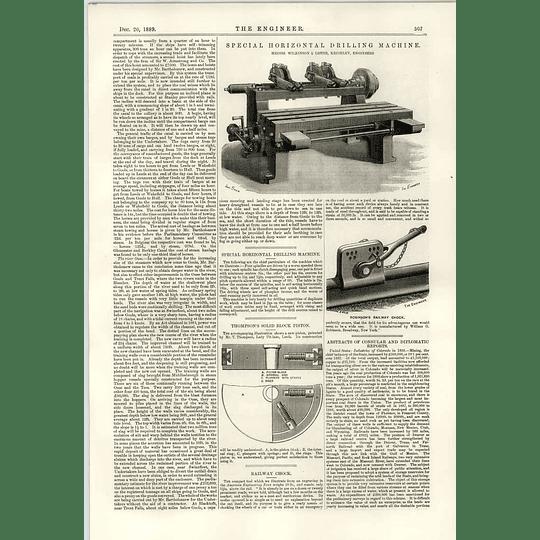 1889 Port Of Goole Improvements 2 Wilkinson Lister Kieghley