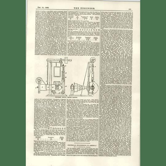 1889 Prof Smith's Testing Machine