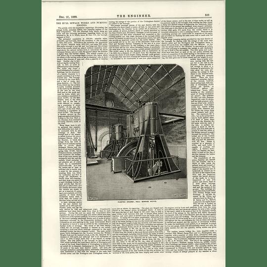 1889 Hull Sewage Works Pumping Engines