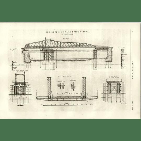 1890 The Dry Pool Swing Bridge Hull Diagrams