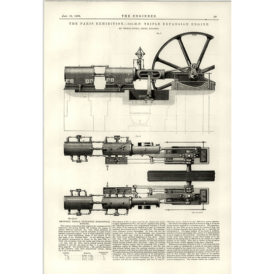 1890 300 Hp Triple Expansion Engine Mr Thomas Powell Rouen