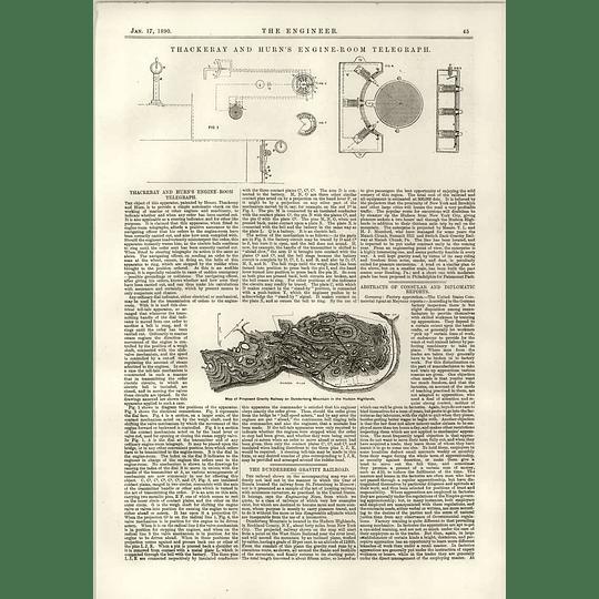 1890 Thackeray And Hurn Engine Room Telegraph Dunderberg Gravity Railroad