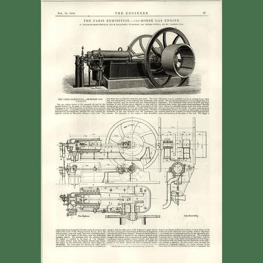 1890 100 Horses Gas Engine Malandrin Powell Rule Torpedo Boat Cushing