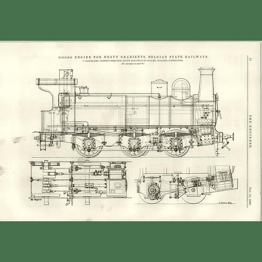 1890 Heavy Gradient Goods Engine Belgian State Railway