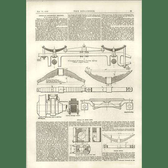 1890 American Railway Axles Details Of Spring Work
