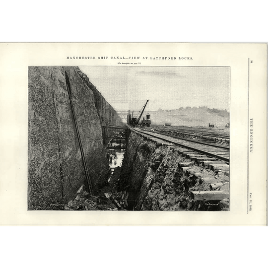 1890 Review At Latchford Locks On The Manchester Ship Canal Trench Digging