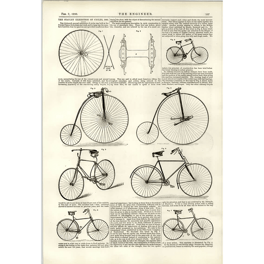 1890 Cycle Construction Innovation Stanley Exhibition West Hartlepool Forge Gray