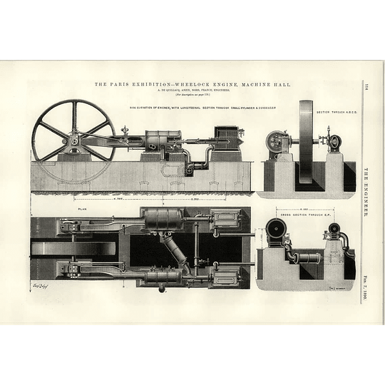 1890 Wheelock Engine Machine Hall De Quillacq Anzin Nord France