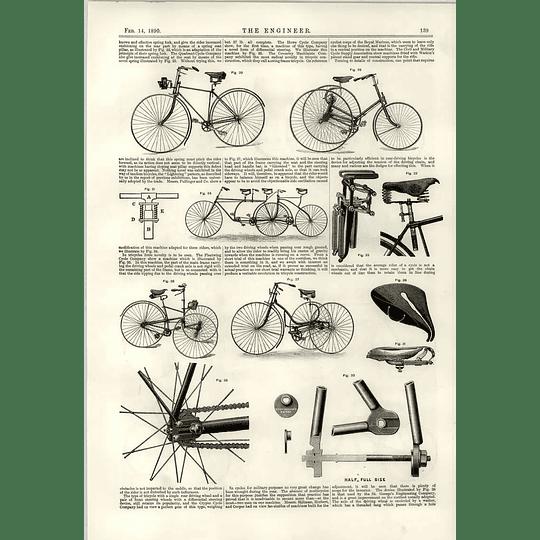 1890 Cycle Innovations Howe Fleetwing Quadrant Pullinger Lightning Tandem