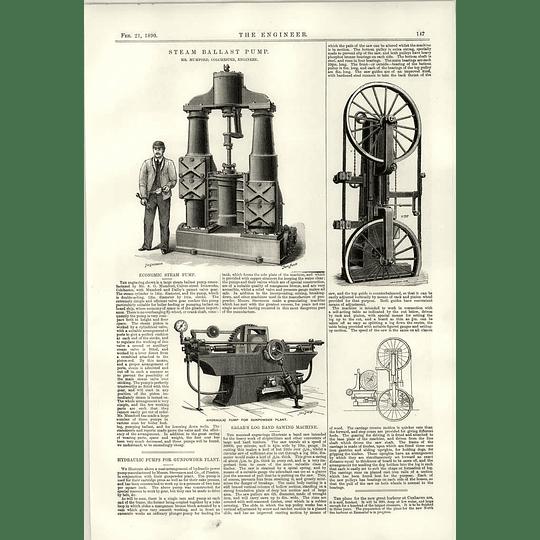 1890 Steam Ballast Pump Mumford Colchester Gunpowder Plant Hydraulic Sagar