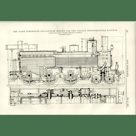 1890 Italian Mediterranean Railway Six Coupled Engine Ii