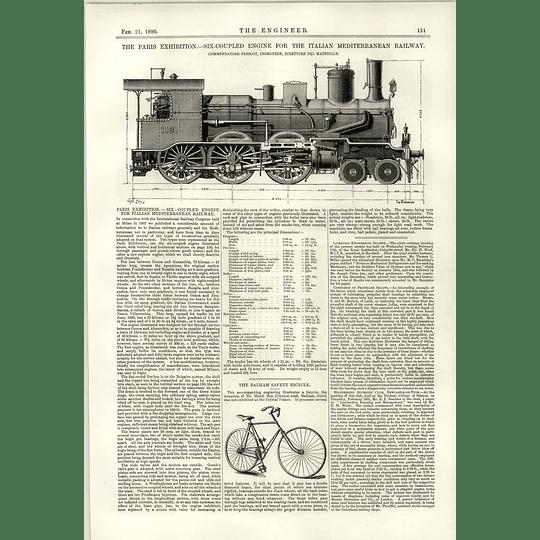 1890 Italian Mediterranean Railway Six Coupled Engine Balham Safety Bike