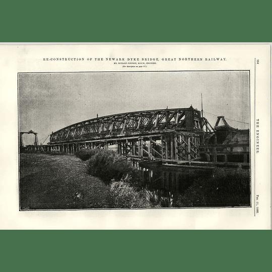 1890 Newark Dyke Bridge Reconstruction Great Northern Railway Johnson