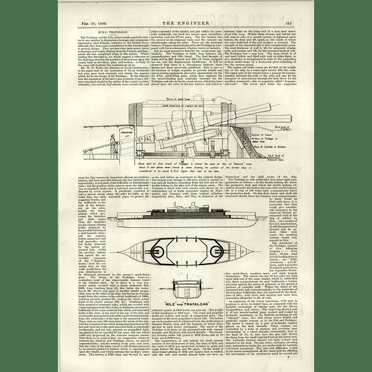 1890 Hms Trafalgar Turret Diameter Ammunition Left