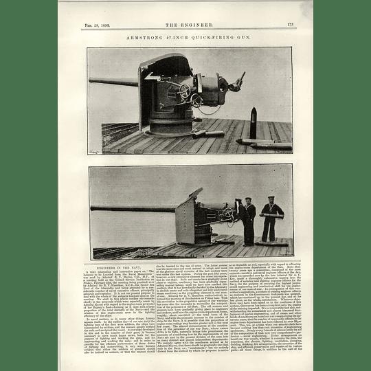 1890 Armstrong 4 7 Inch Quick Firing Gun